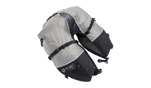 Giantloop Rogal -sakwa Coyote Saddlebag Roll Top SZARY